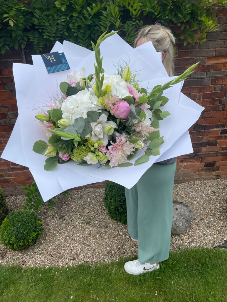 Bespoke Pastels Bouquet from The Flower House at Hall Farm