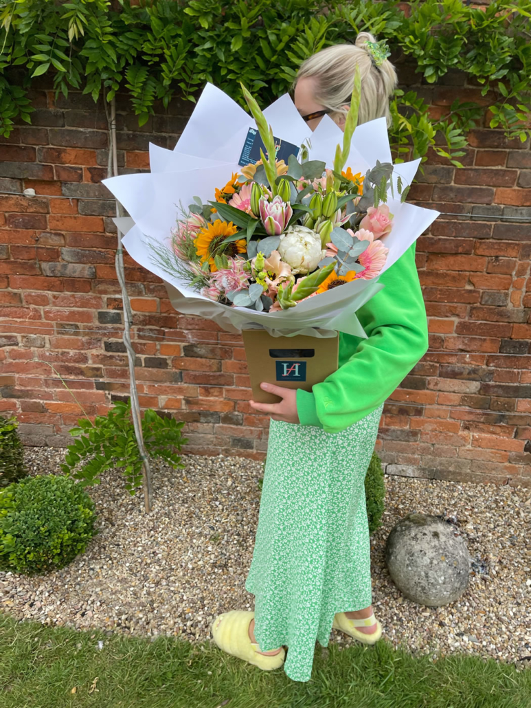 Bespoke Brights Bouquet from The Flower House at Hall Farm